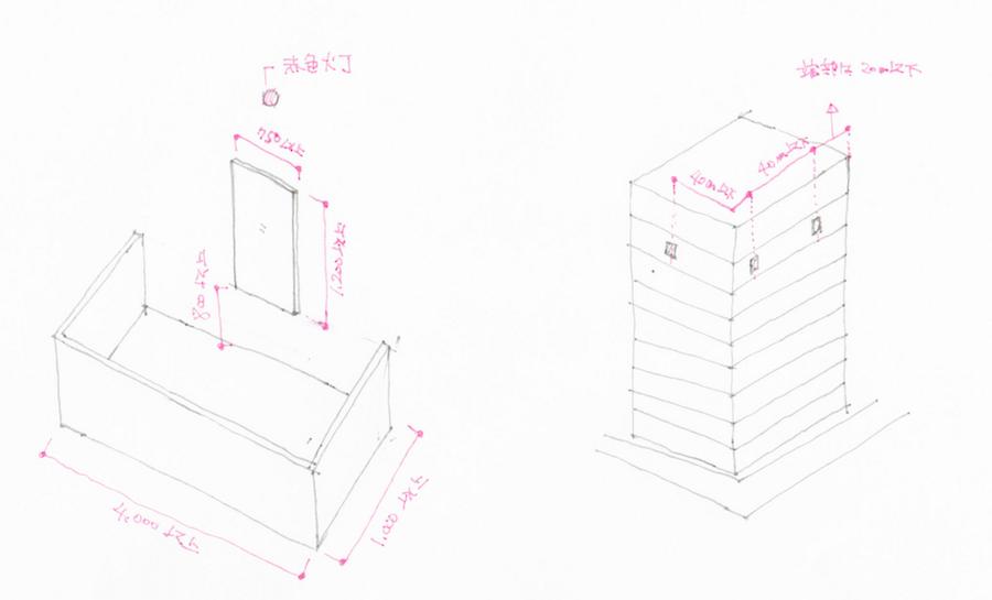 非常用進入口の構造と設置間隔