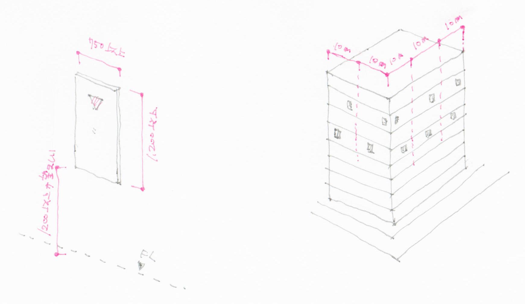 代替進入口の構造と設置間隔