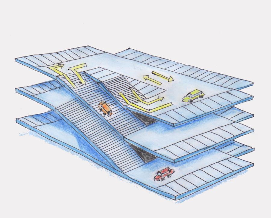 自走式立体駐車場フラットタイプ