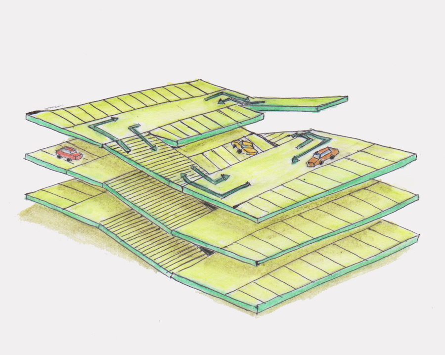 自走式立体駐車場スキップ式